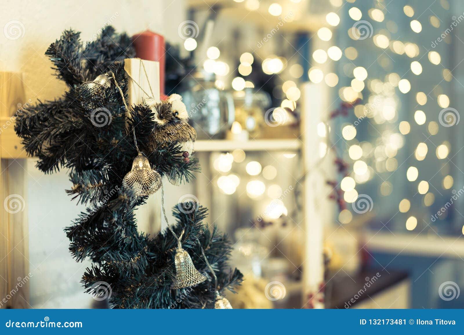 Jullampor och bokeh