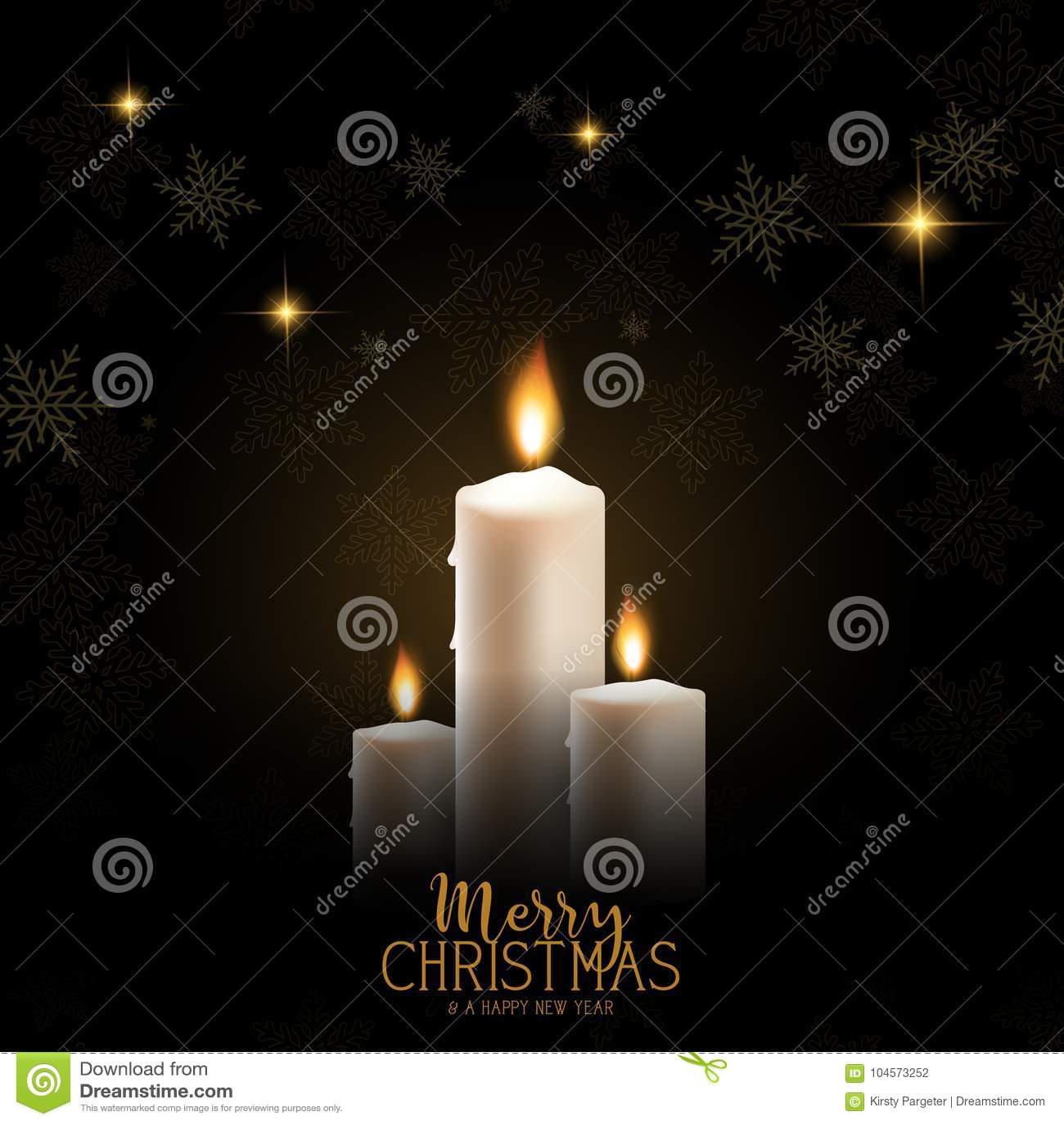 Julljusbakgrund med snöflingor och stjärnor