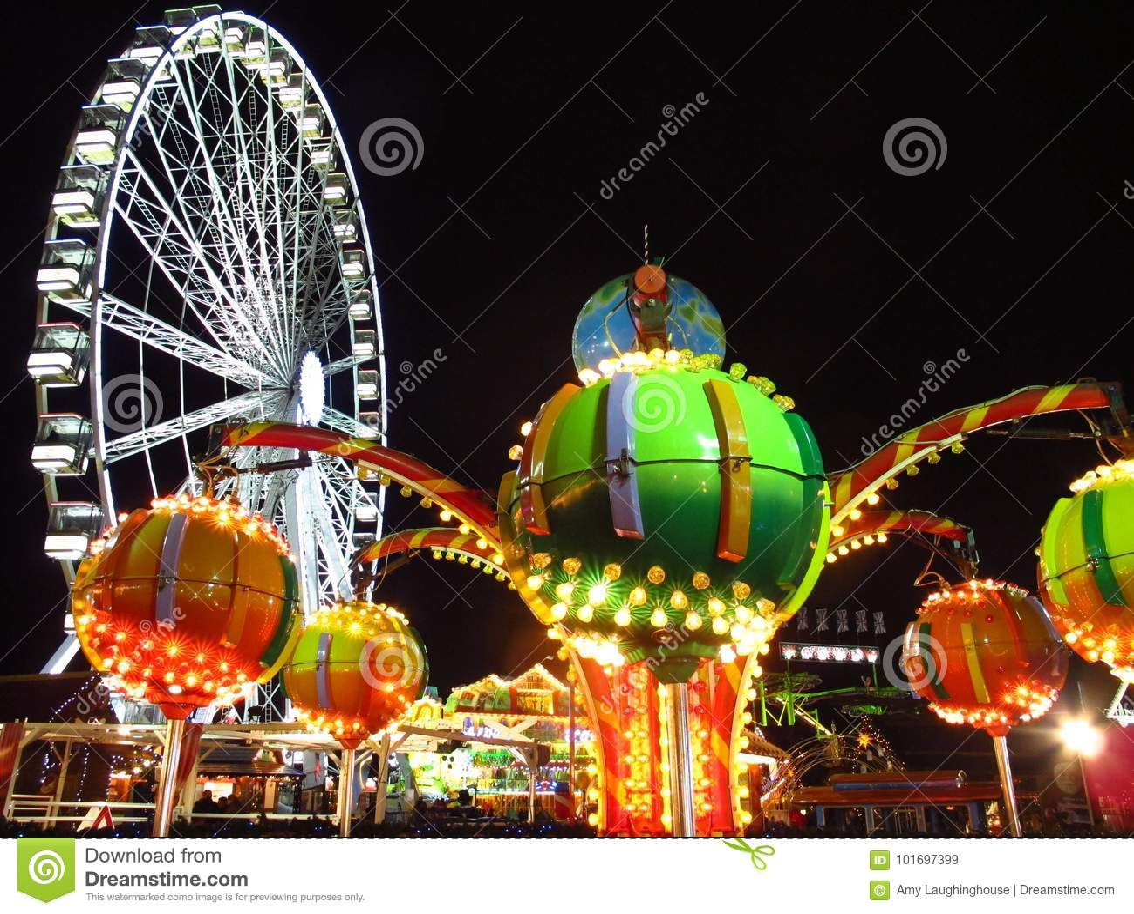 Julmarknad Hyde Park London England