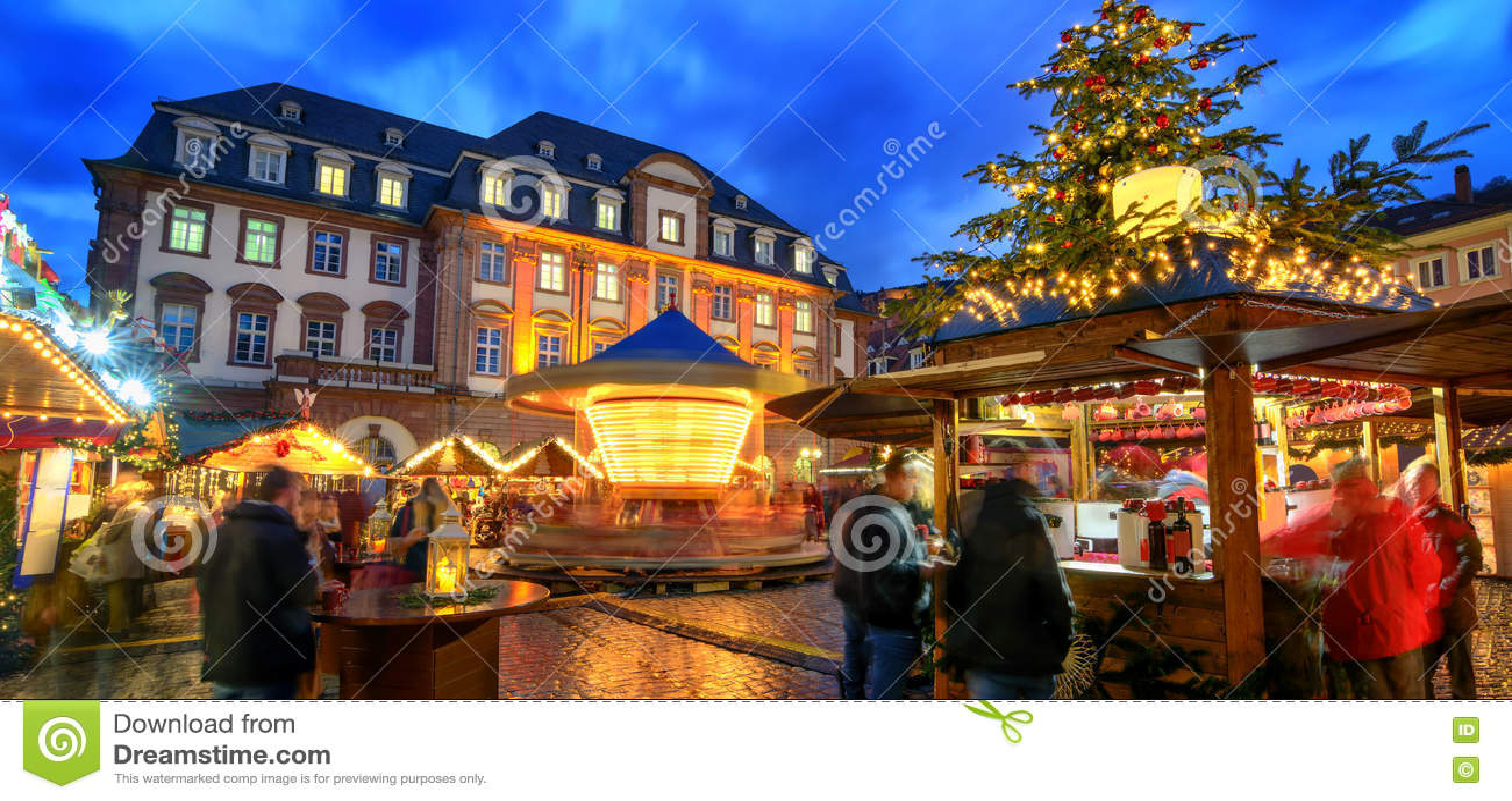 Julmarknad i Heidelberg, Tyskland