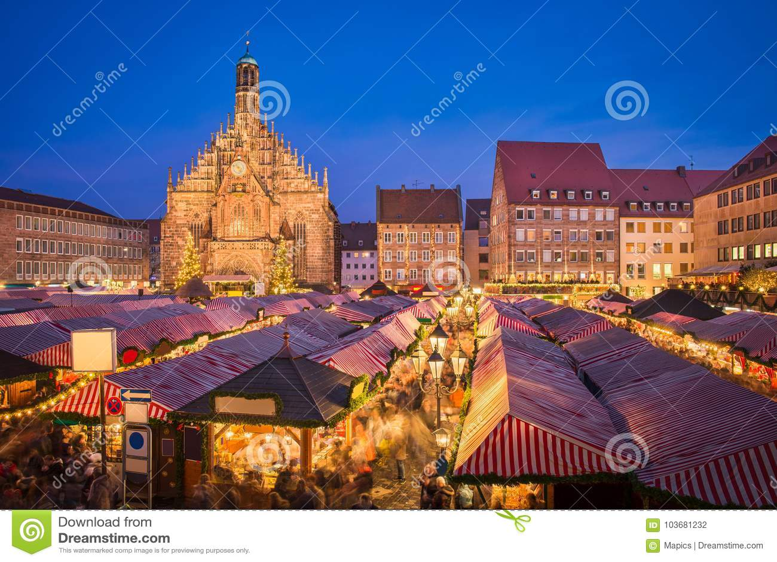 Julmarknad i Nuremberg, Tyskland