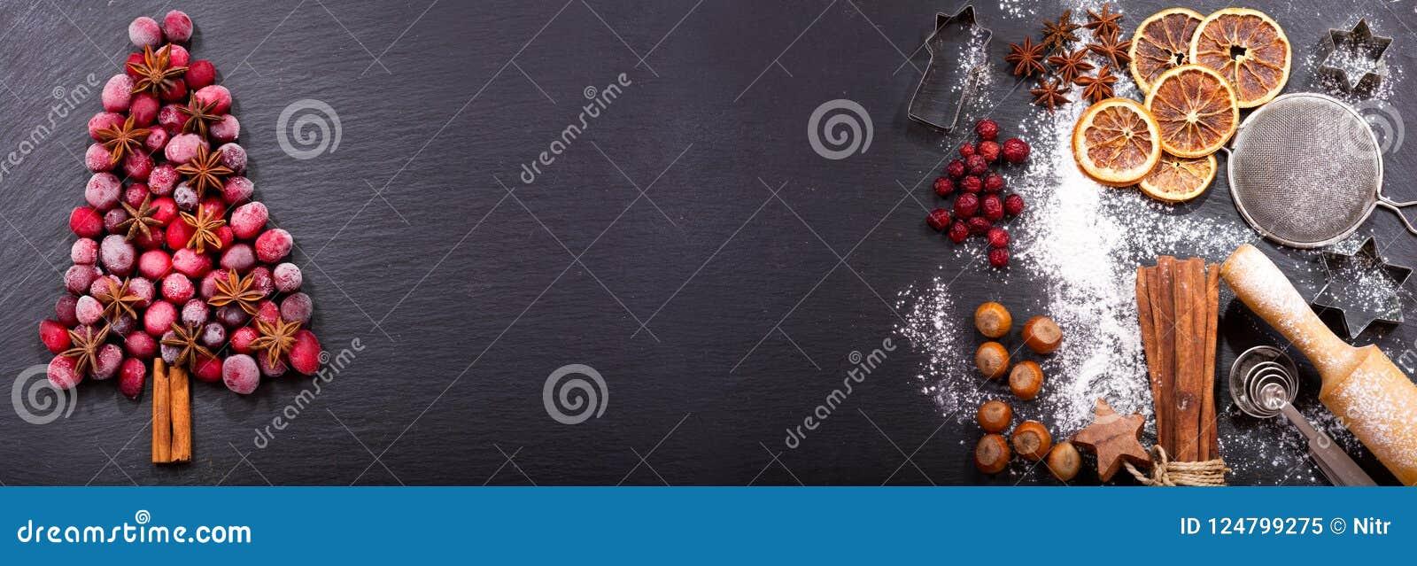 Julmat Ingredienser för att laga mat den julatt baka och satsen