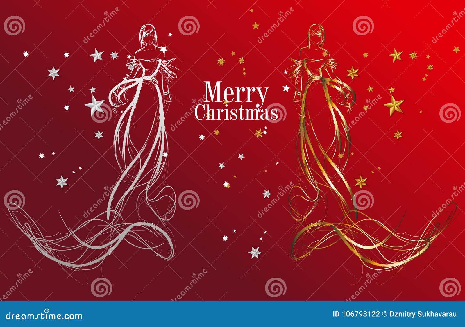 JULMODEFLICKOR runt om kortbarn cirklar julen den lyckliga snowmanen för danshelgdagsaftonhälsningar
