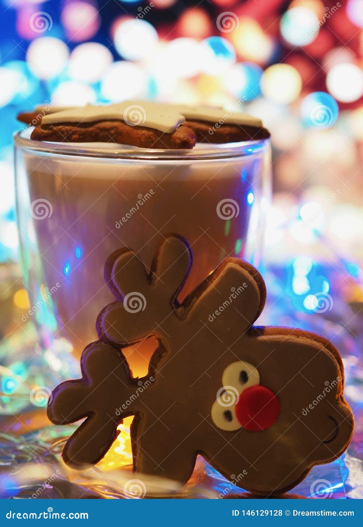 Julpepparkakor med lynne för jul för kaffekopp
