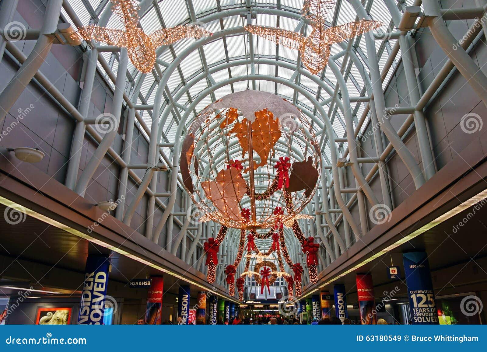 Julpynt O Hare flygplats, Chicago