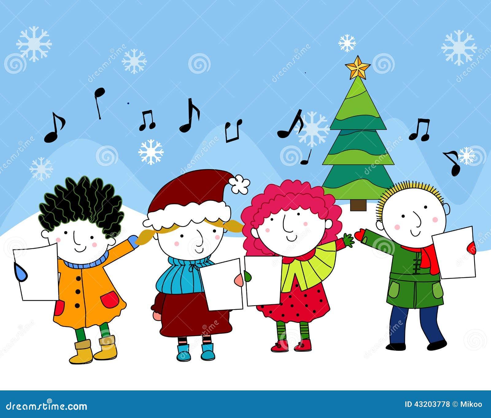 Download Julsånger vektor illustrationer. Illustration av beröm - 43203778