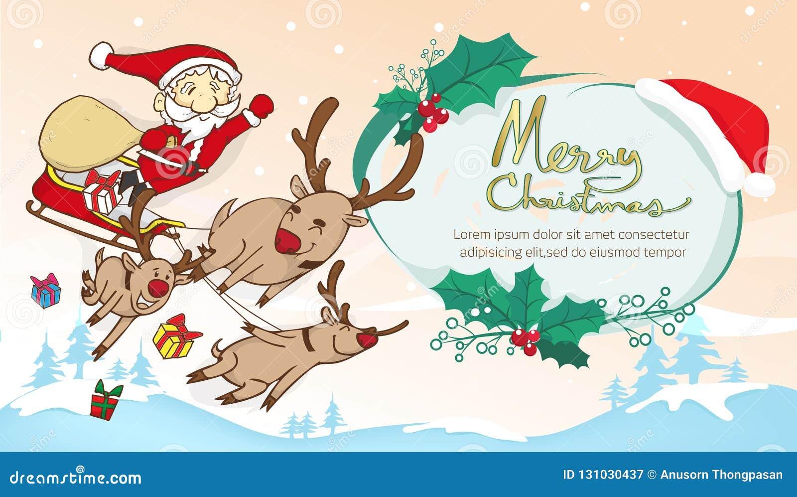 Jultomten och renflyg- och textramen, glad jul smsar fr