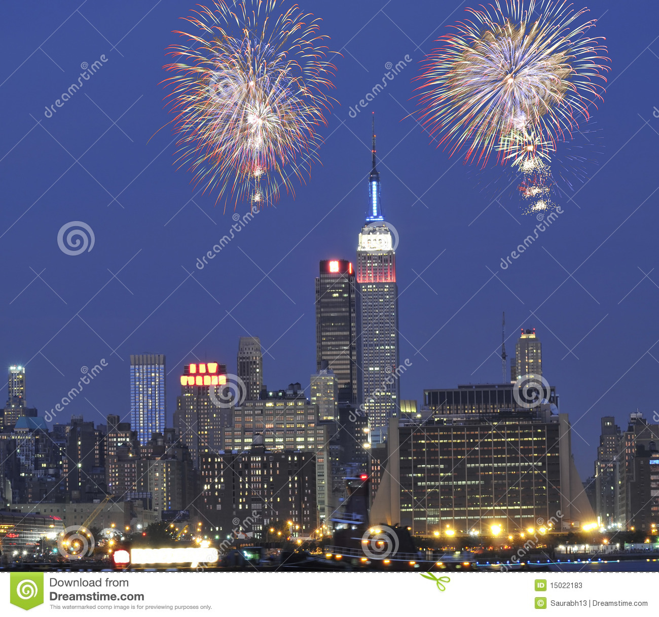 July 4th fireworks in New York City