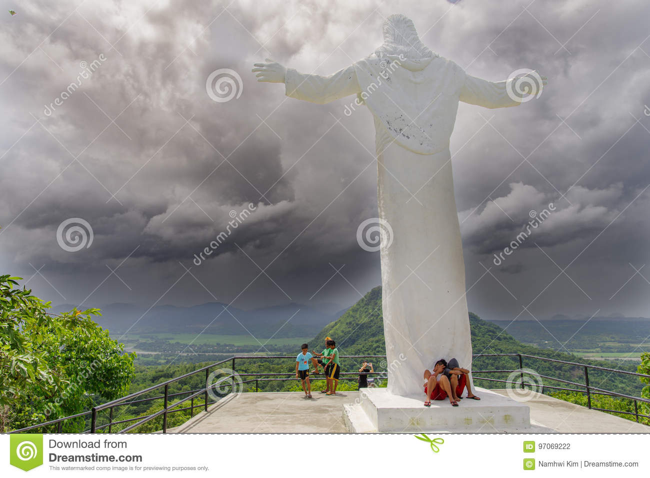 July 29 2017 Jesus statue at the