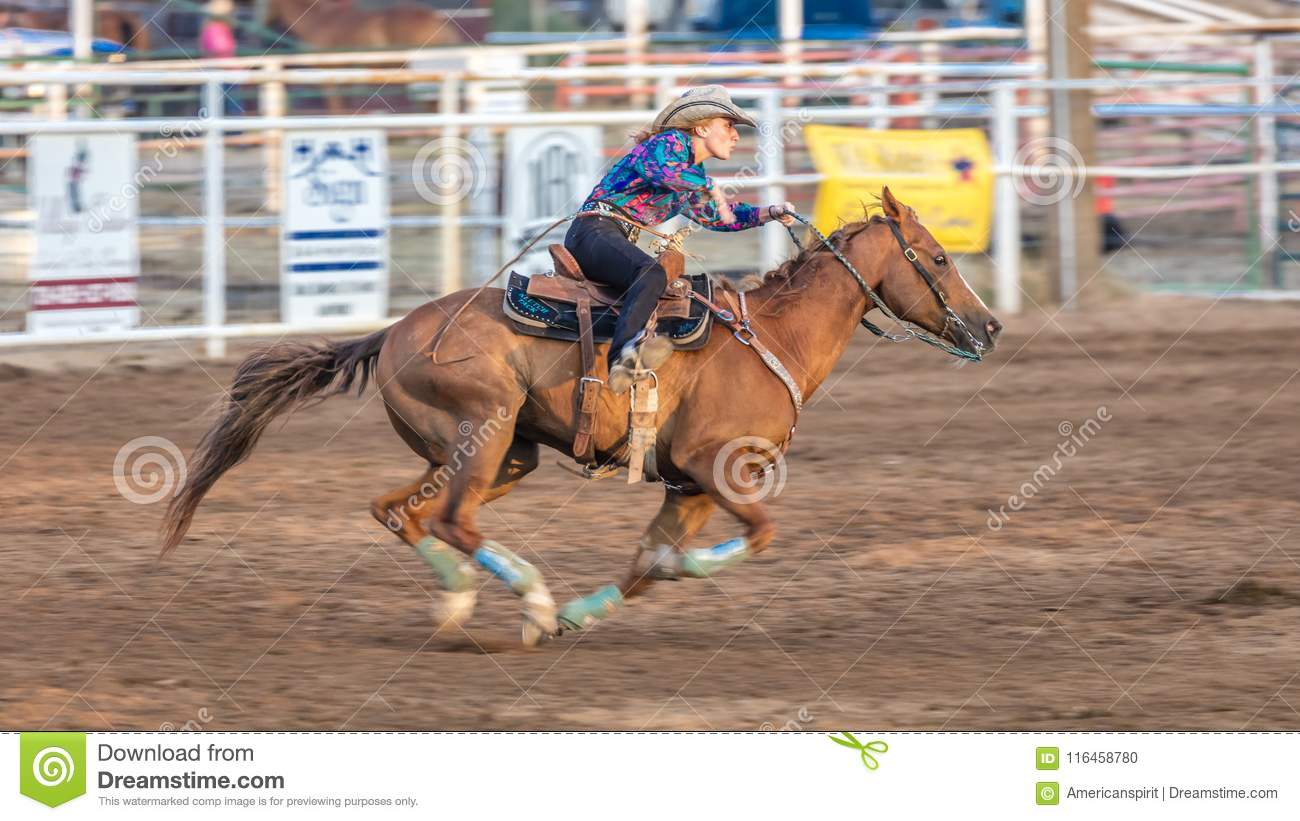 July 22 2017 Norwood Colorado Cowgirl Rides Fast For