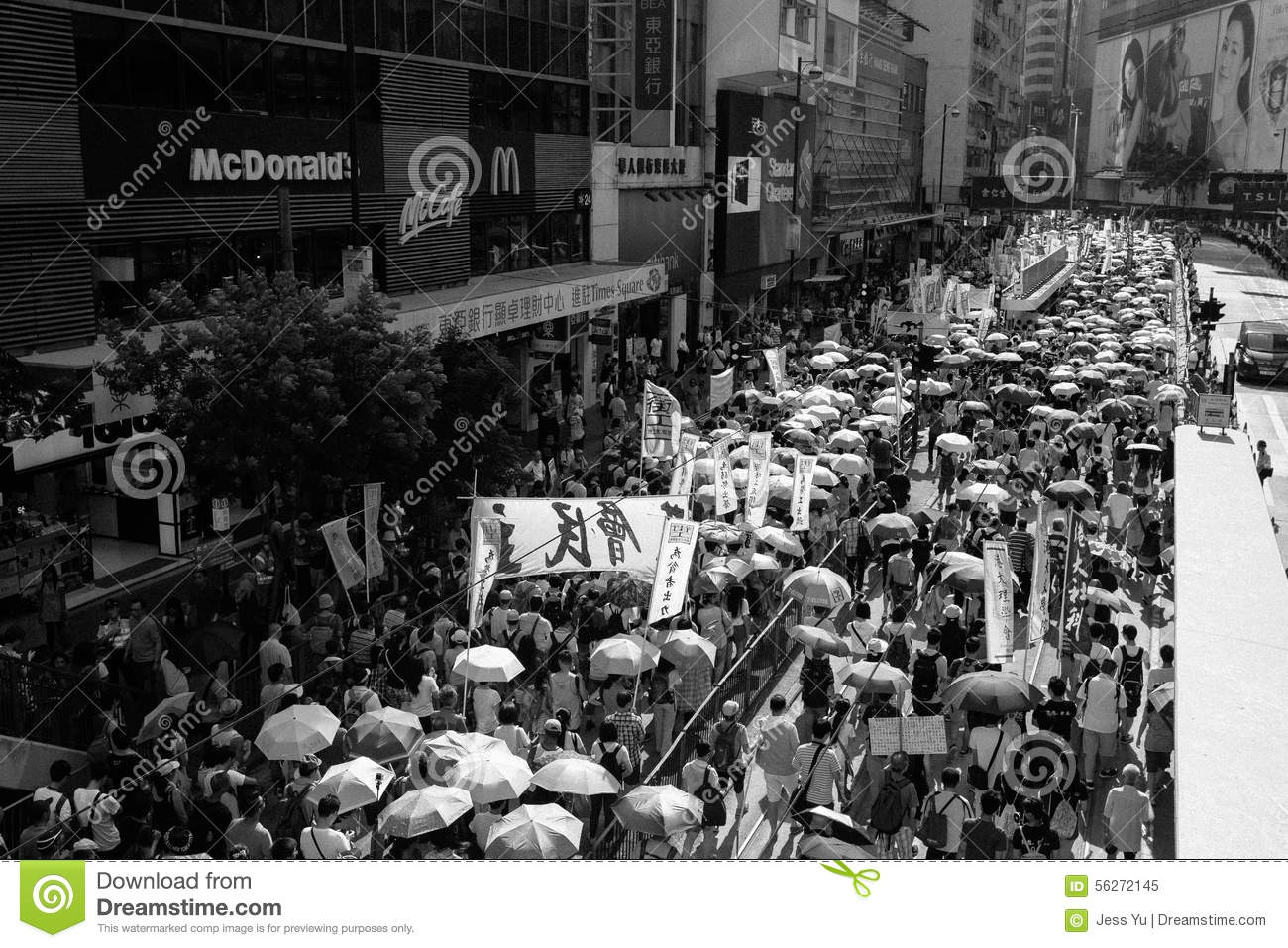 1 July protest in Hong Kong