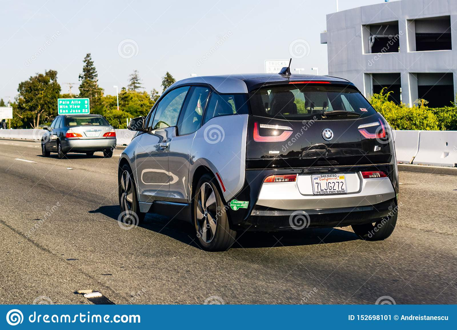 July 4 2019 Redwood City Ca Usa Bmw I3 Driving On The Freeway In San Francisco Bay Area Editorial Photo Image Of Journey Freeway 152698101