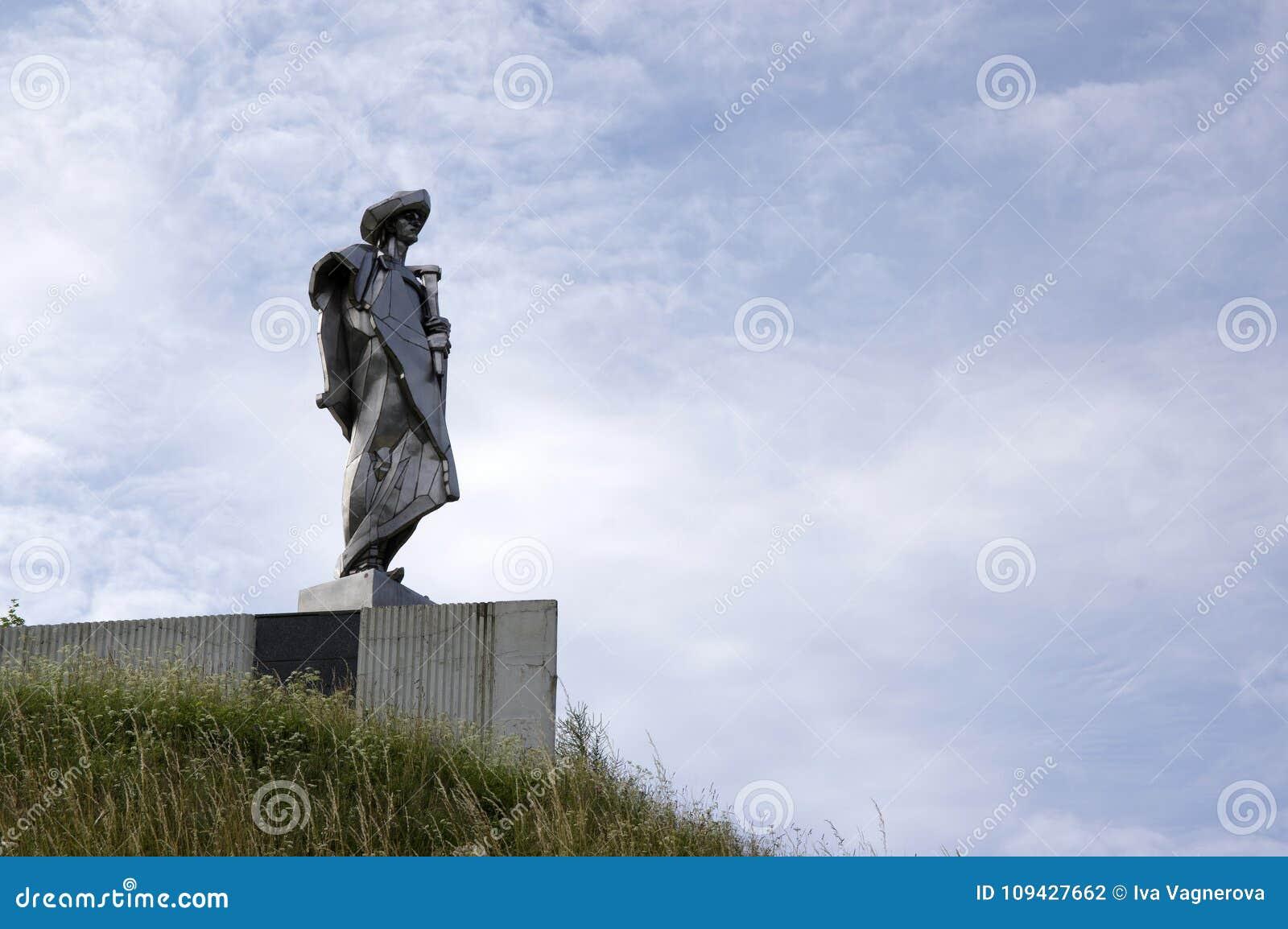 July 10, 2016, place of interest, Juraj Janosik statue, Terchova, Slovakia