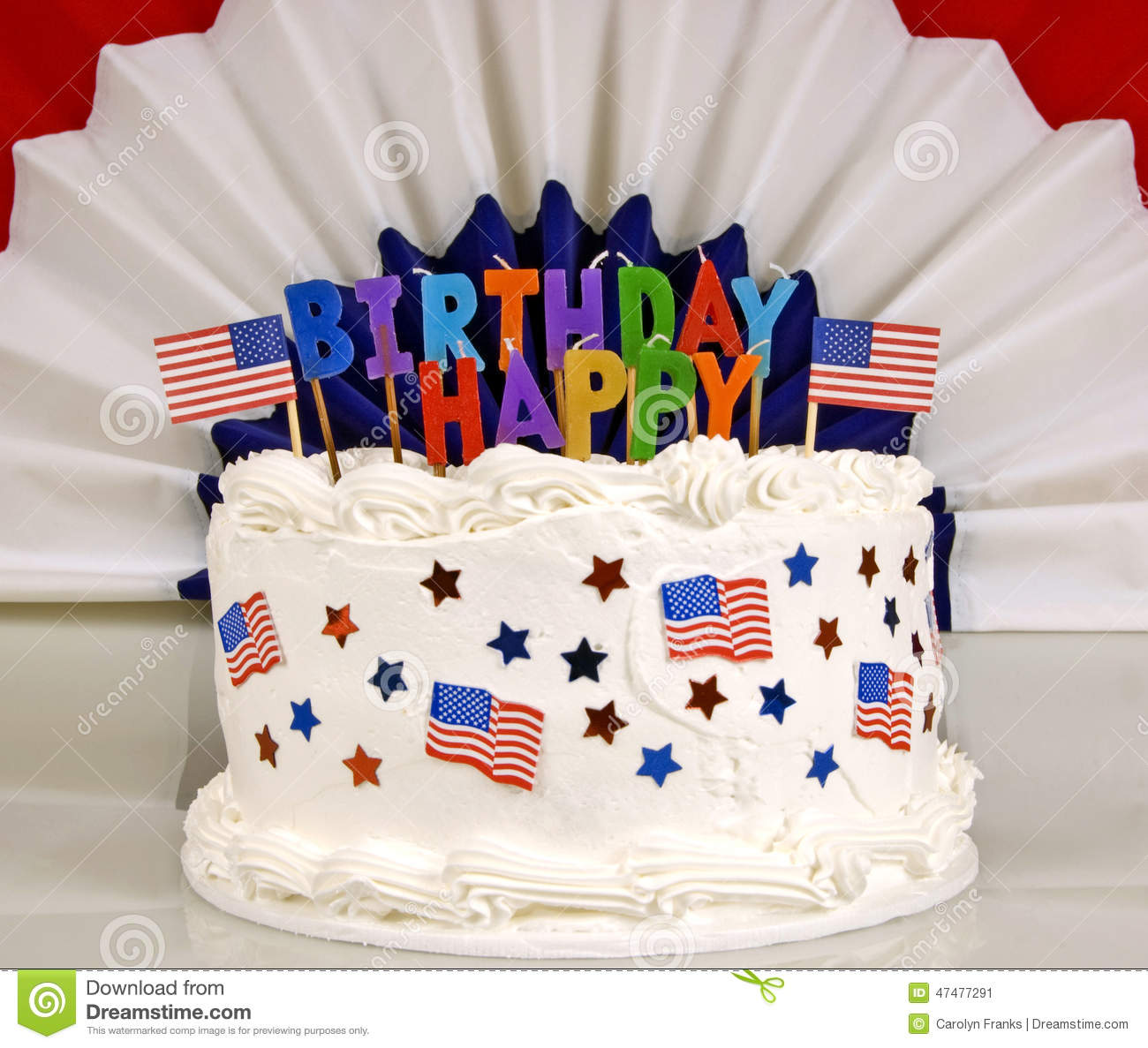 Astonishing July 4Th Patriotic Birthday Cake Stock Image Image Of Blue Funny Birthday Cards Online Alyptdamsfinfo