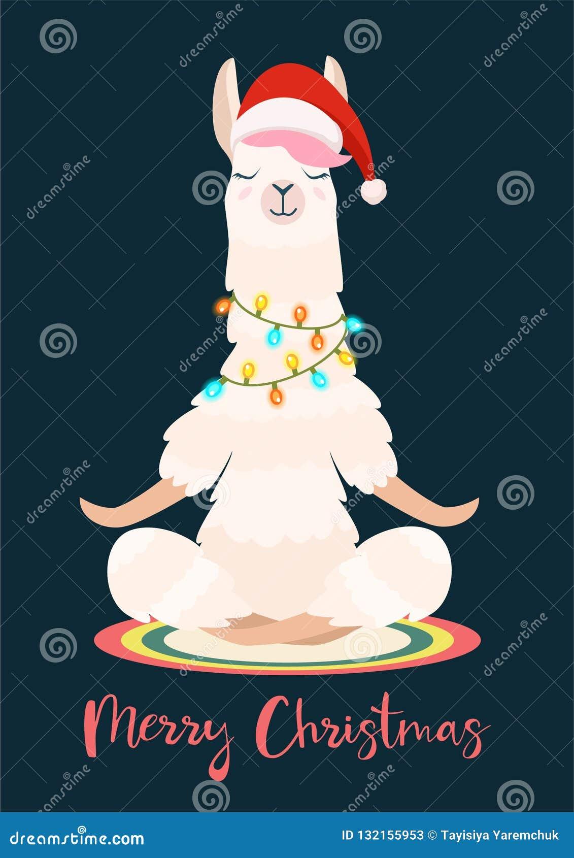 Julyogalaman mediterar också vektor för coreldrawillustration Roligt festligt hälsa kort
