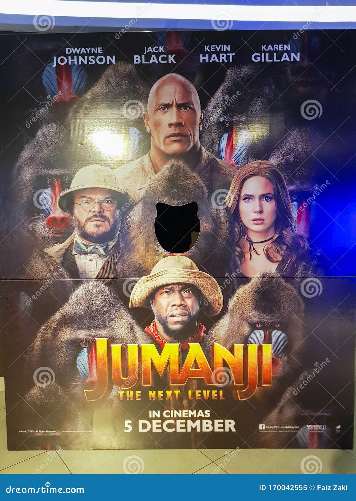 Jumanji The Next Level Movie Poster Is A 2019 American Fantasy Adventure Comedy Film Starring Dwayne Johnson Jack Black Kevin Editorial Image Image Of Fantasy Reason 170042555