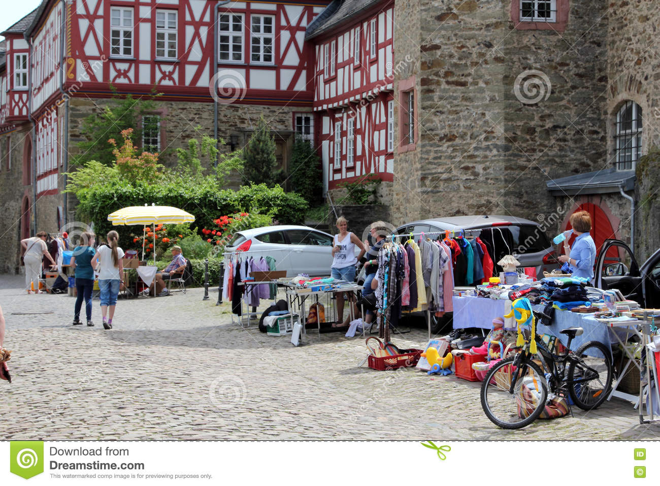 Jumble Sale In French Village Roussillon Editorial Photo
