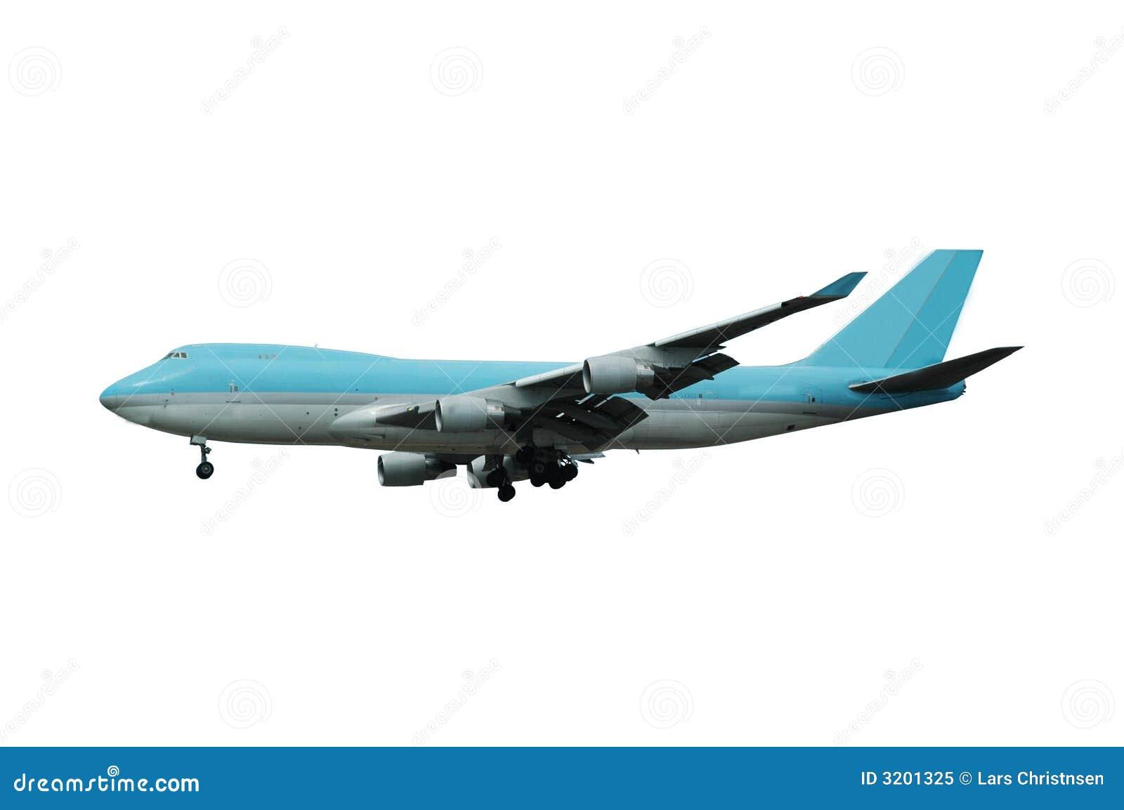 Jumbo plane white background royalty free stock photo image