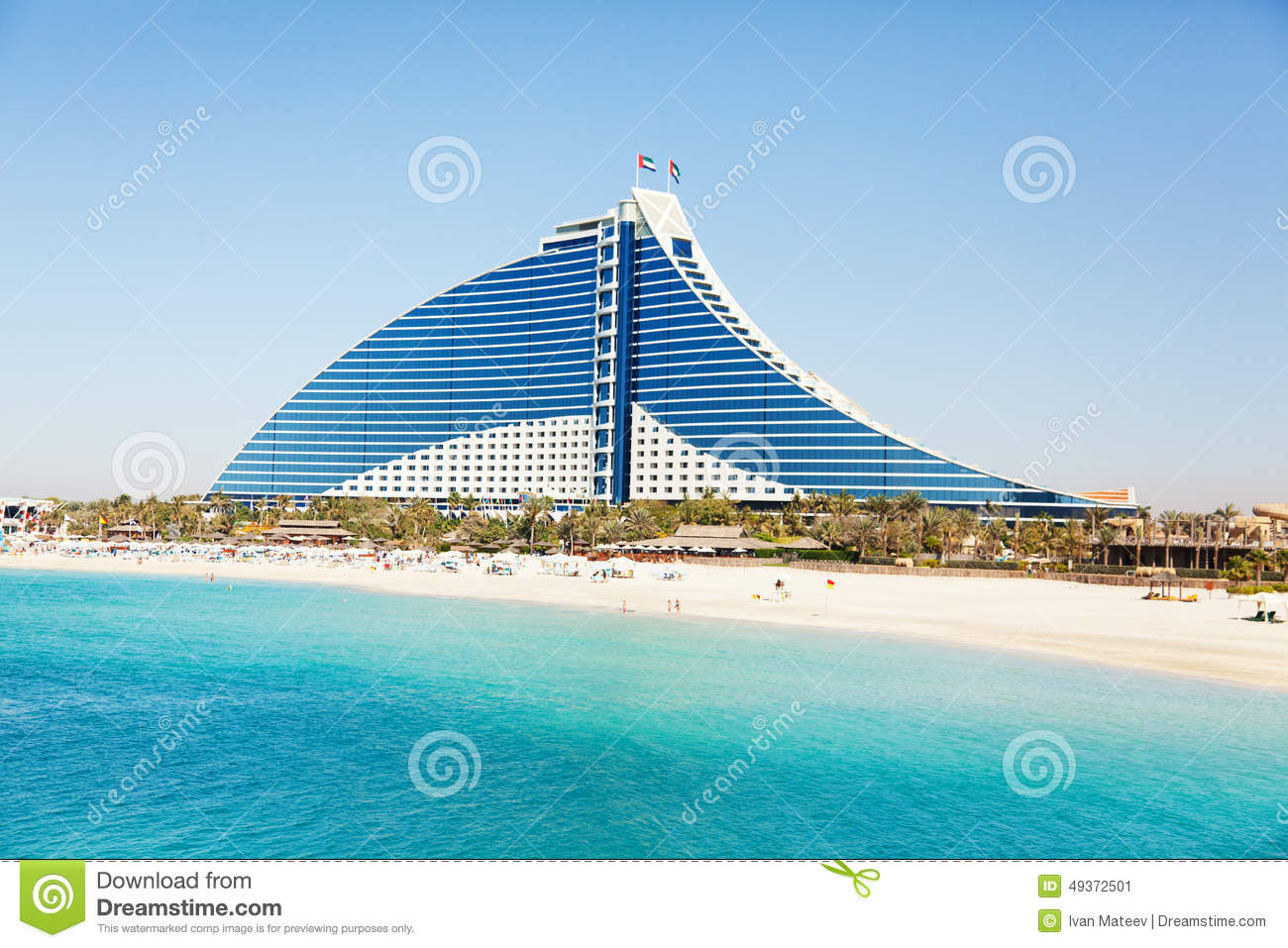 Jumeirah beach hotel dubai editorial photo image 49372501 for Dubai hotels near beach