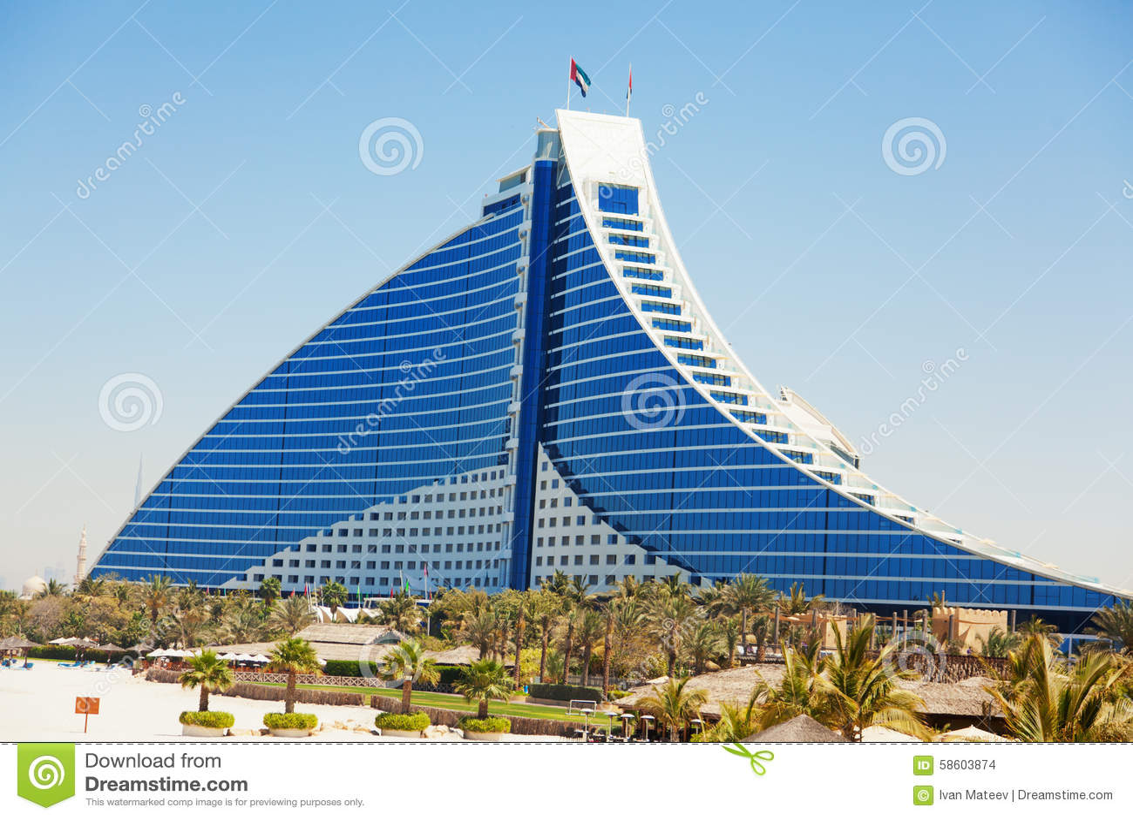 Jumeirah beach hotel dubai editorial stock image image for Best beach hotels in dubai