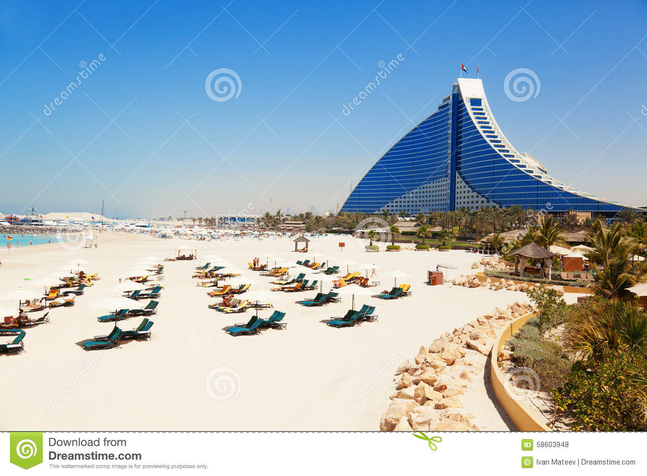 Jumeirah beach hotel dubai editorial stock photo image for Dubai hotels near beach