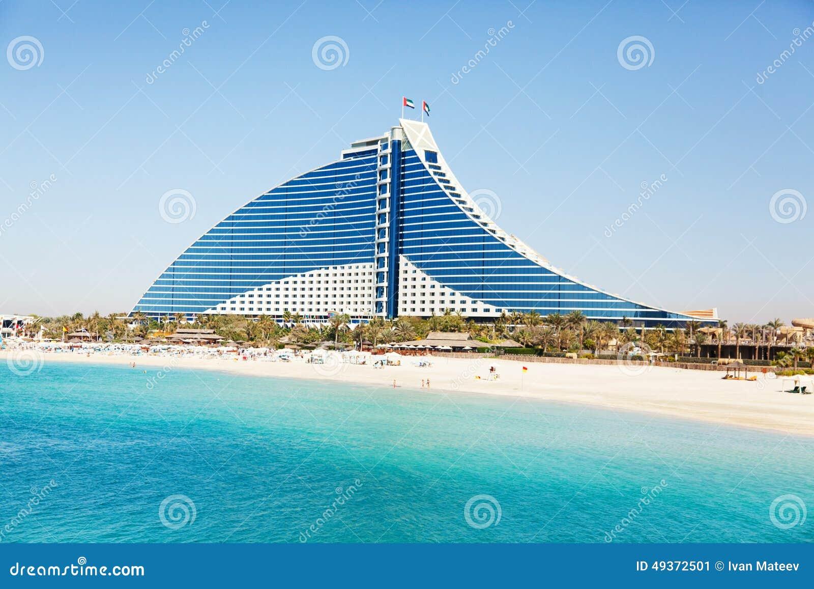 Jumeirah strand hotel dubai redaktionelles foto bild for Modern hotel dubai