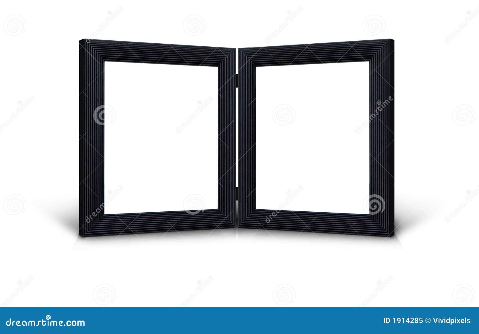 Jumelez les cadres de tableau articulés par noir