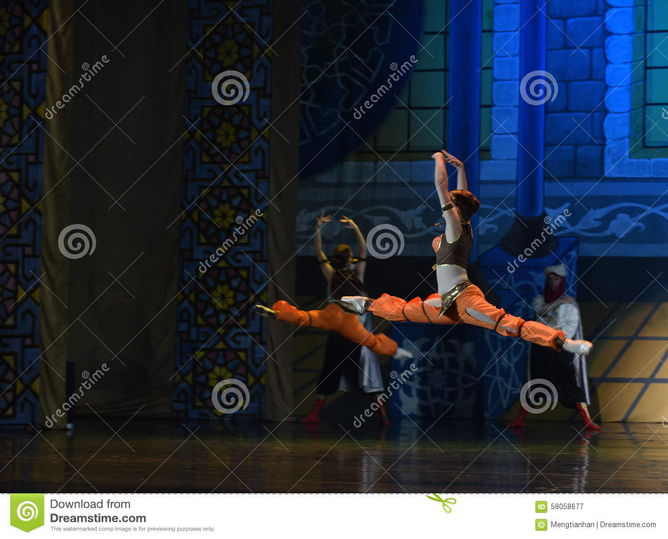 """Jump height- ballet """"One Thousand and One Nights"""""""