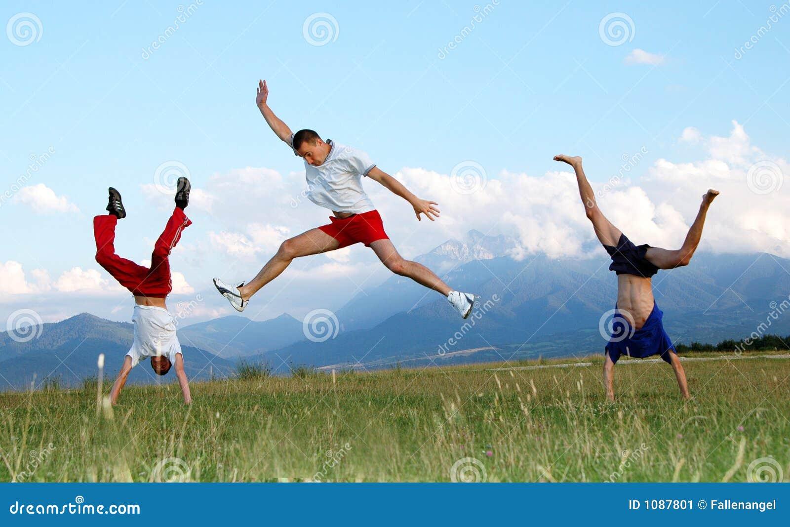 jump for joy stock image image 1087801