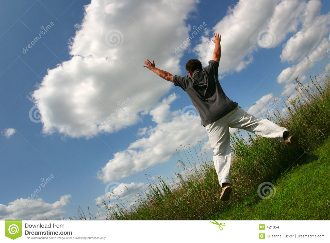 jump for joy stock photo image of person boomer lift