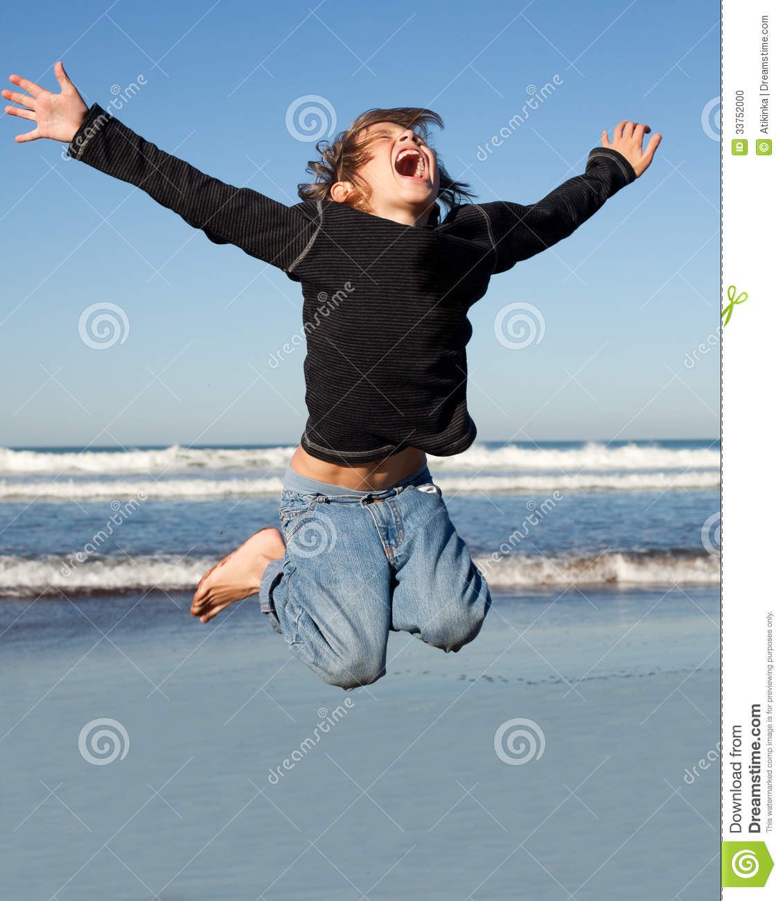 jump for joy stock photo image of summer kids outdoor