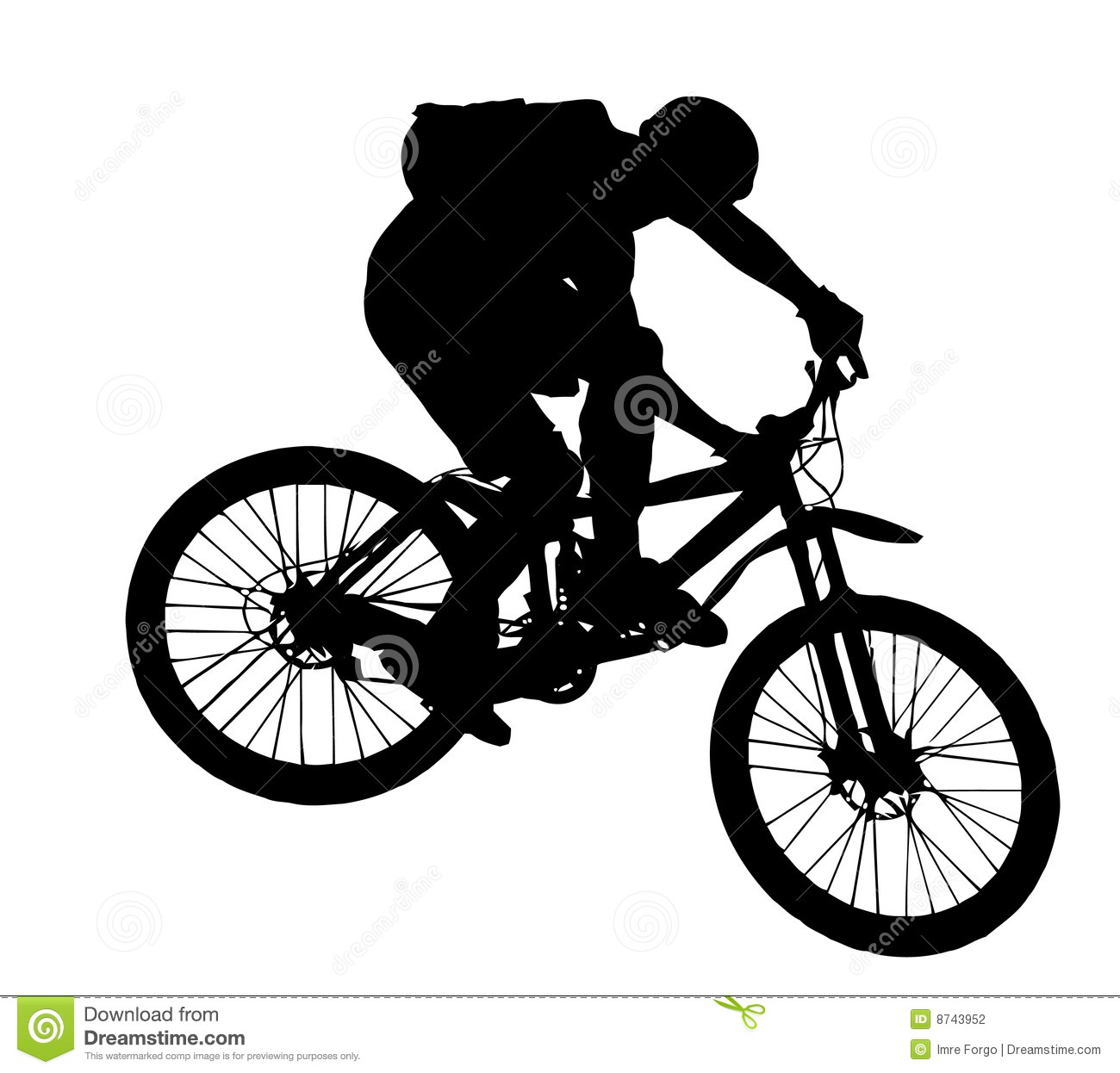 Downhill Wallpaper: Jump With A Mountain Bike Stock Vector. Illustration Of