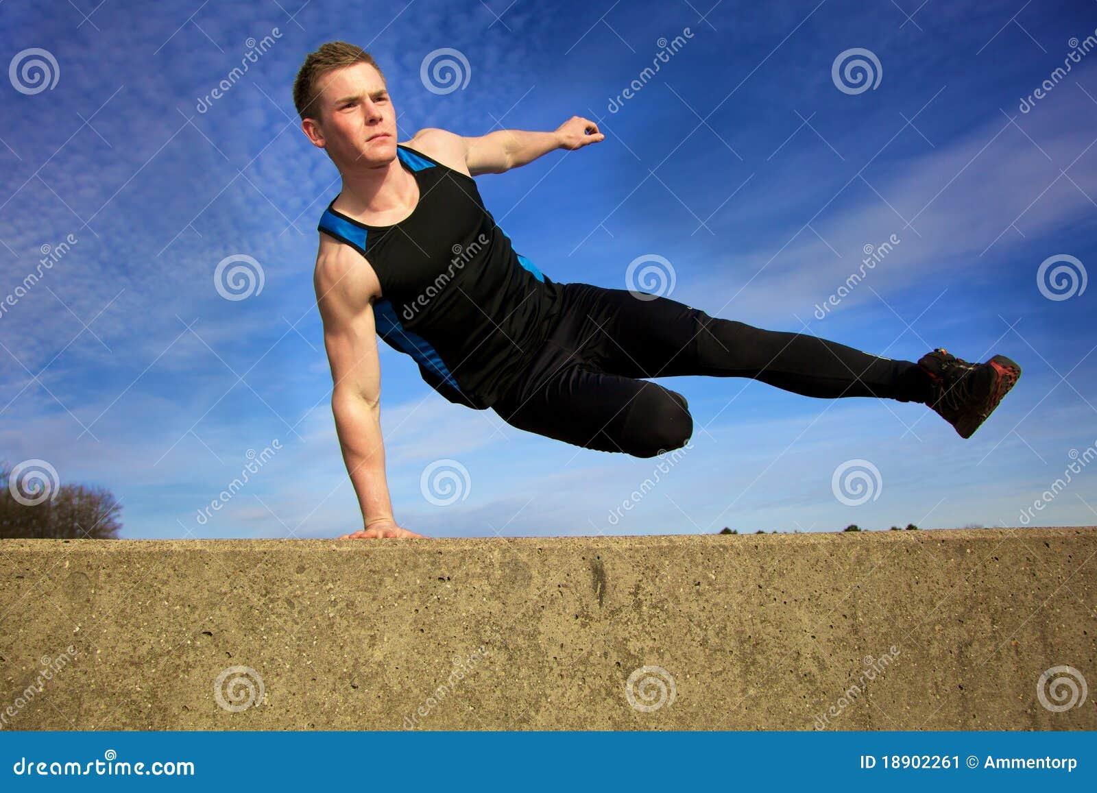 Jump over wall