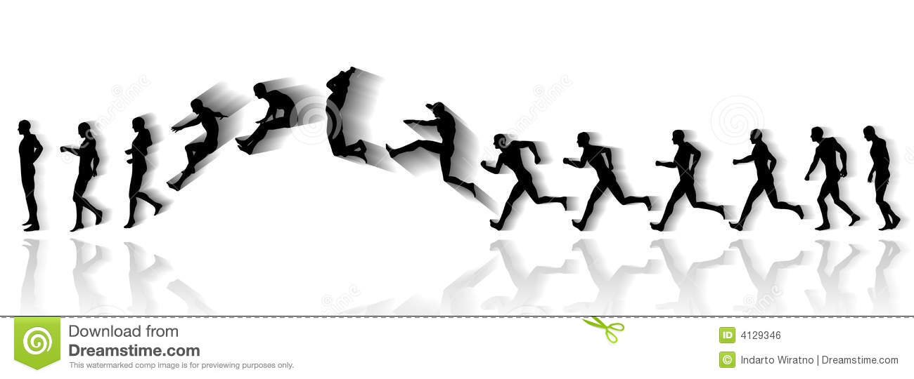 Jump Sequence Royalty Free Stock Image - Image: 4129346
