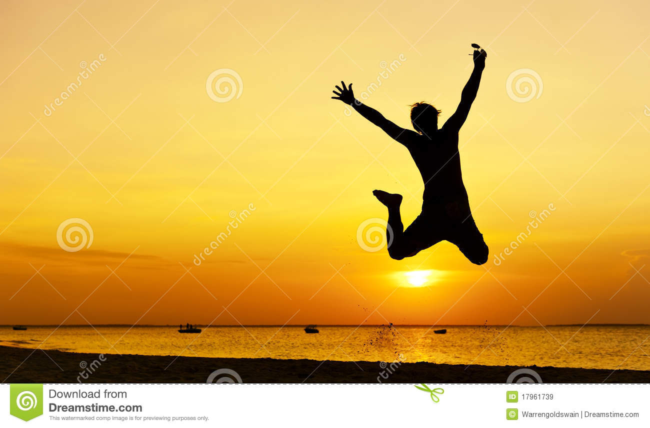 jump silhouette royalty free stock images image 17961739