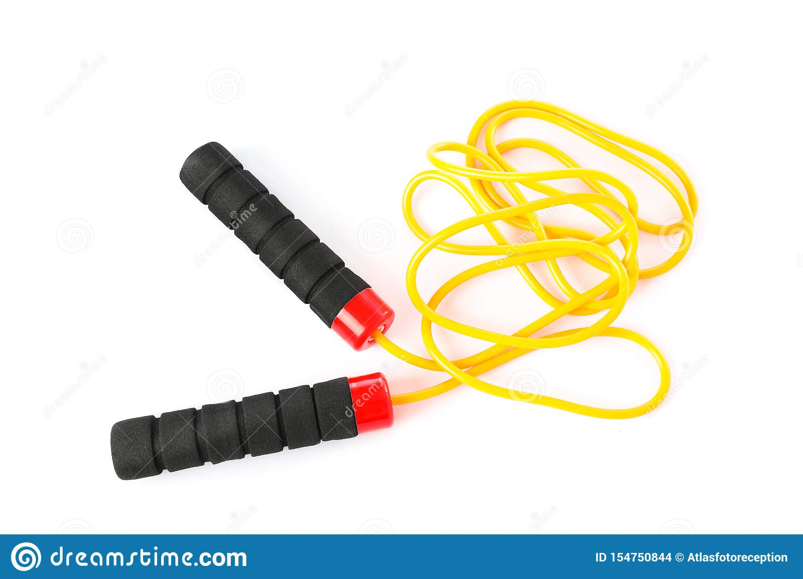 Jump or skipping rope isolated
