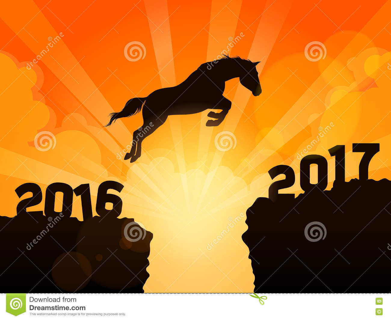 Jump to New Year 2017 stock vector. Image of power ...