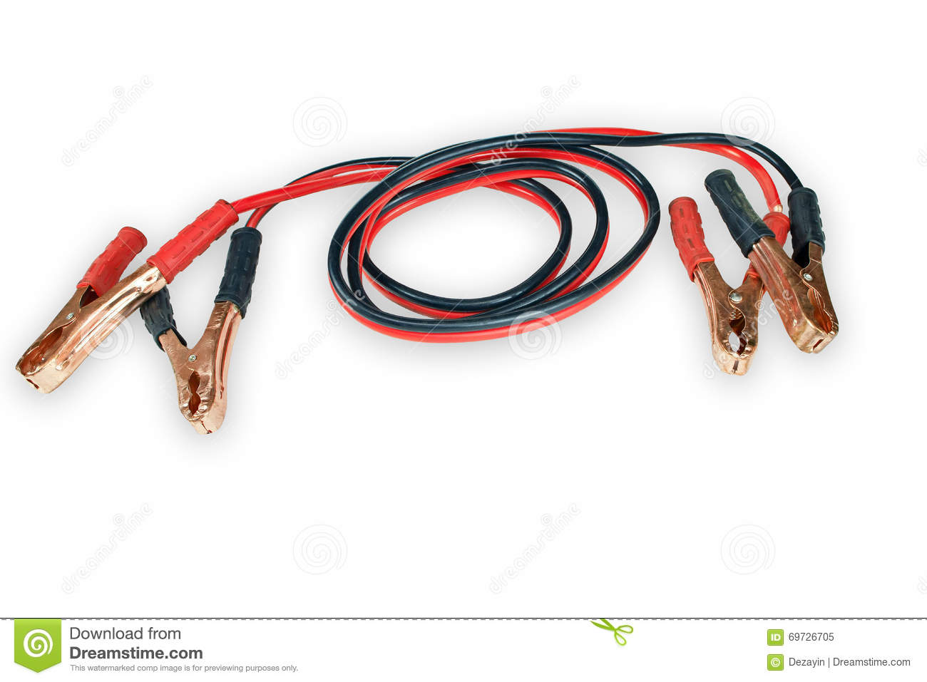 Jumper Cable Background : Starting car engine with battery jumper cables royalty