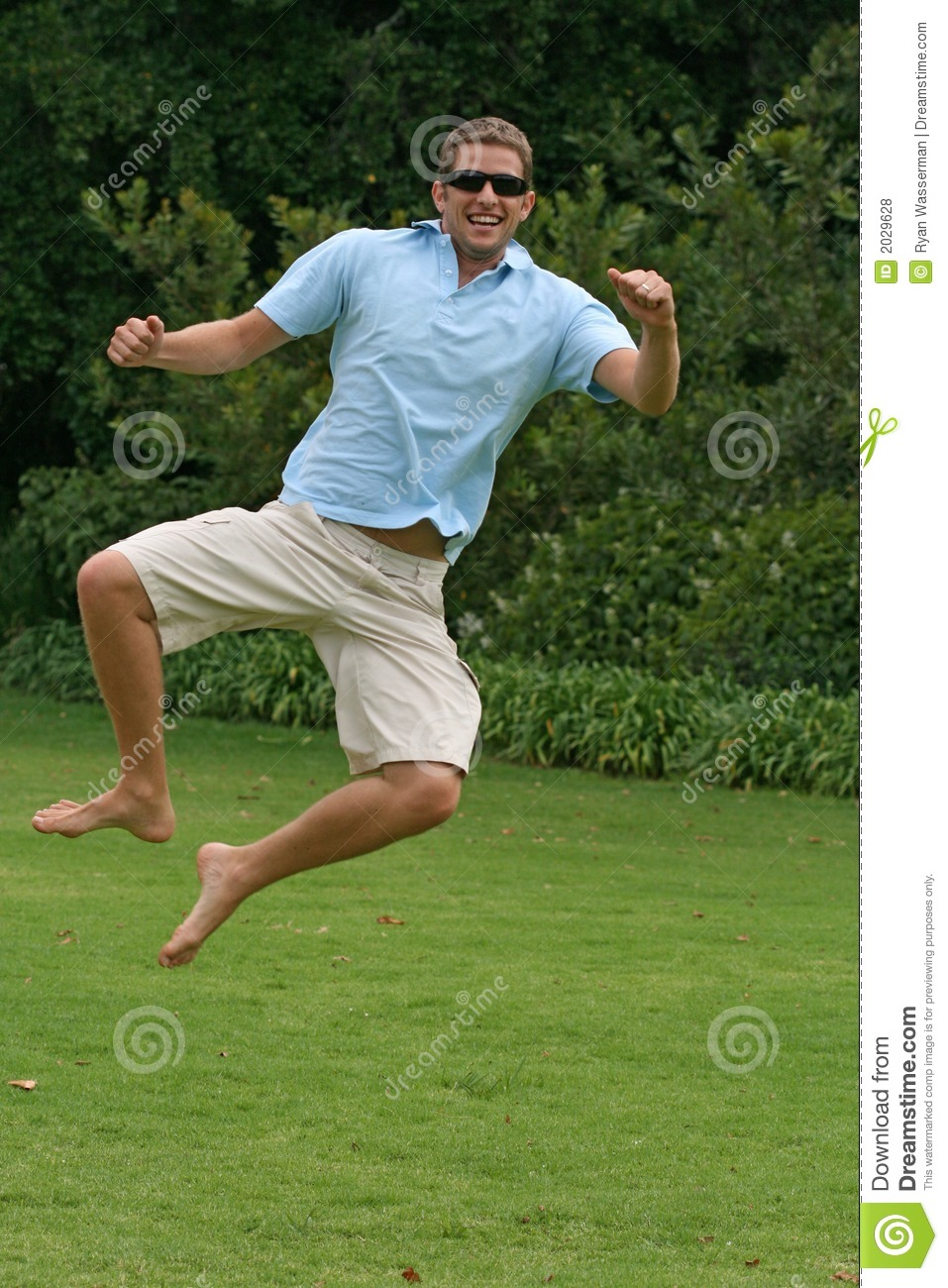 Jumping In Air With Excitement And Happiness Royalty Free ...