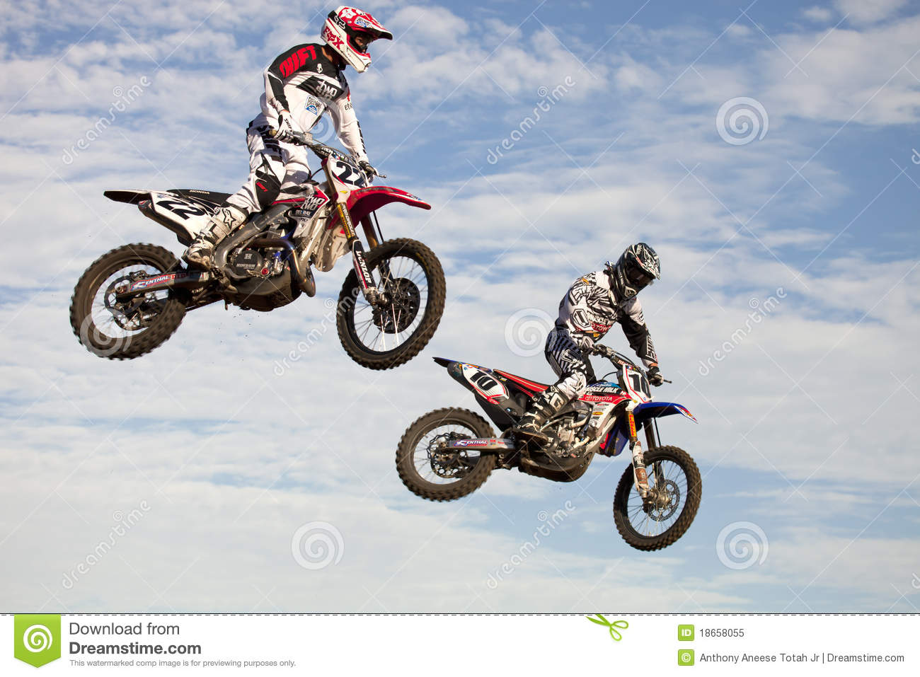 jumping bikes at supercross editorial image image 18658055. Black Bedroom Furniture Sets. Home Design Ideas