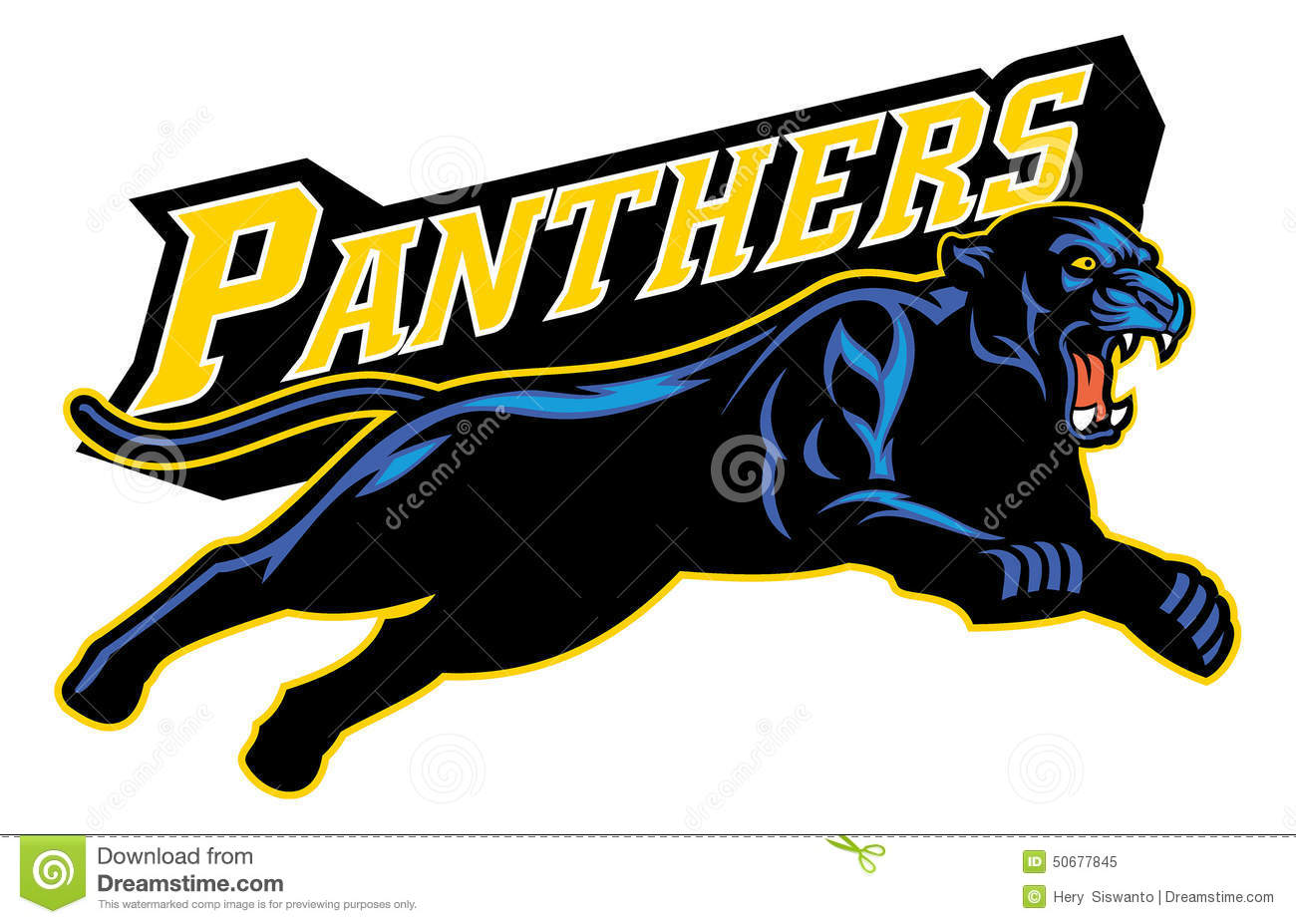 Jumping Black Panther Stock Vector - Image: 50677845