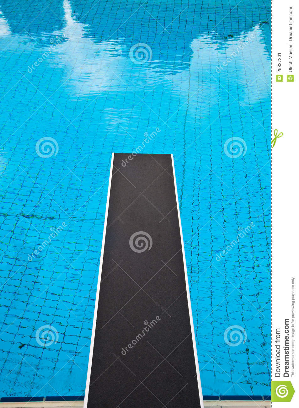 Jumping Board In A Swimming Pool Stock Image - Image of ...