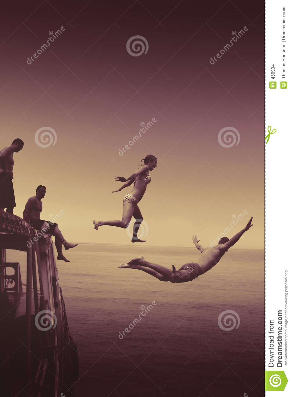 Jumping of boat