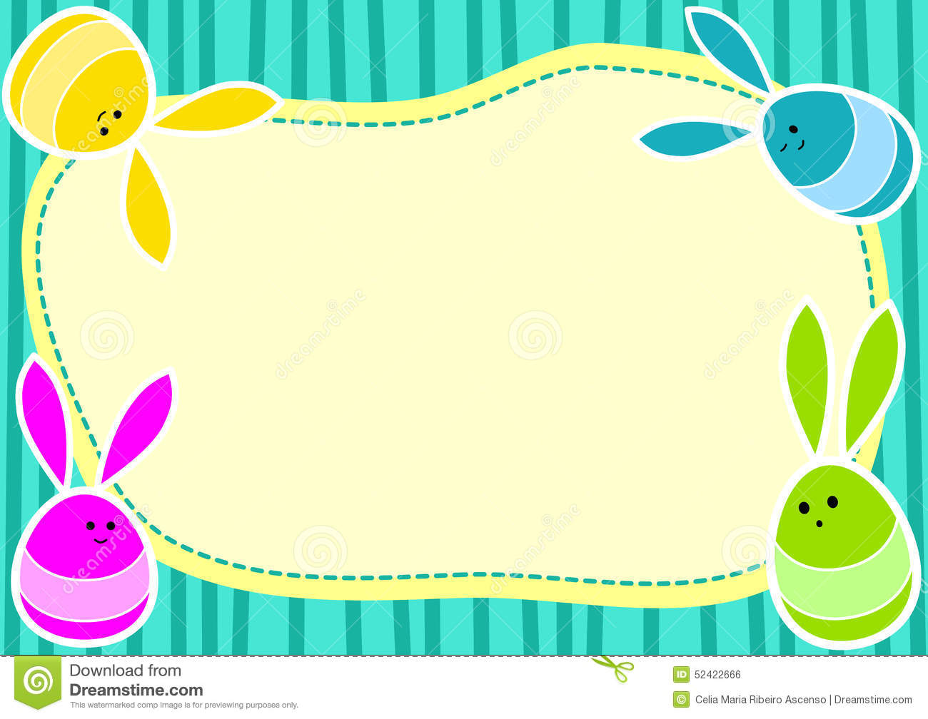 Awesome Jumping Bunny Eggs Invitation Card Stock Illustration Personalised Birthday Cards Paralily Jamesorg
