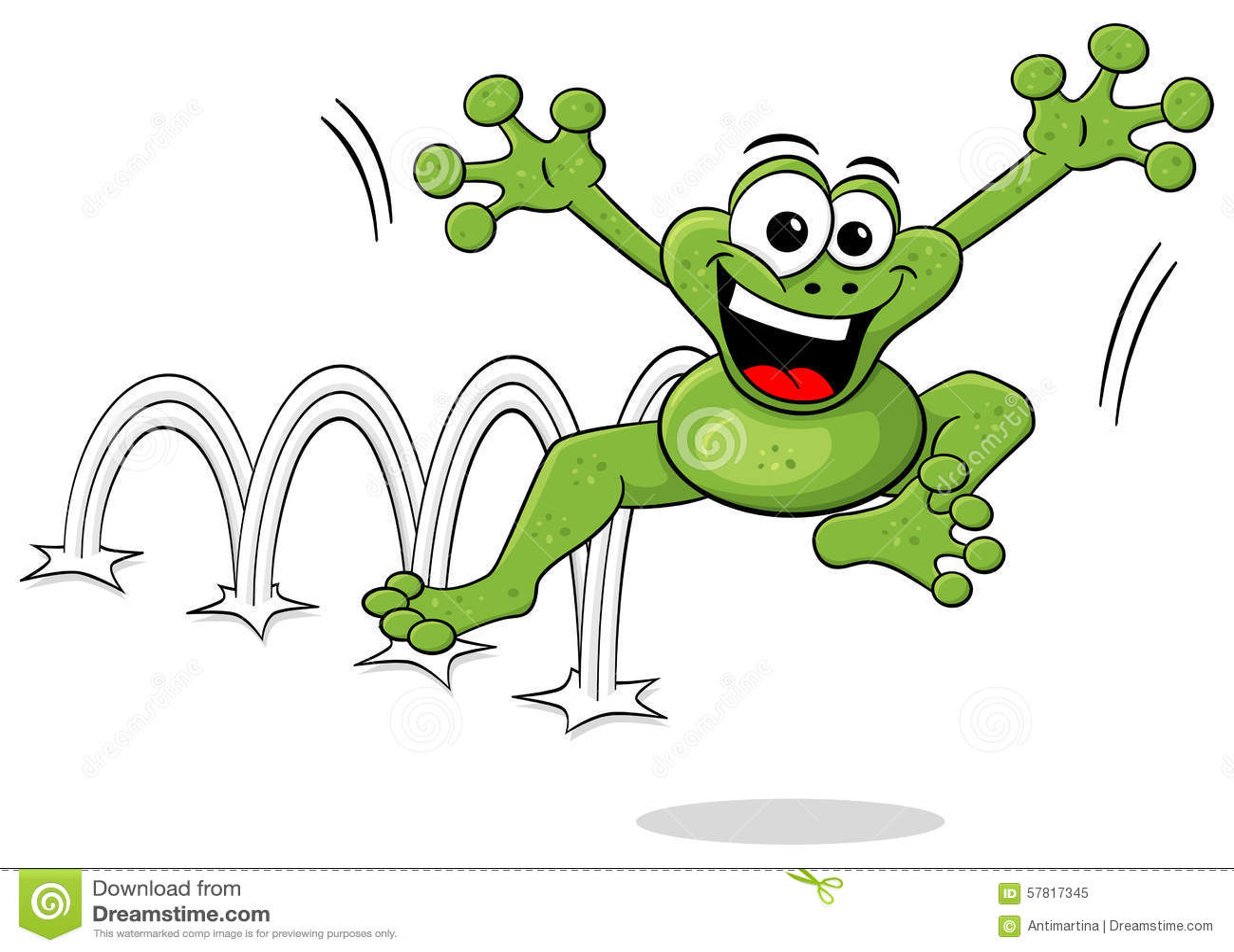 Frog Jumping Clipart Jumping Cartoon...