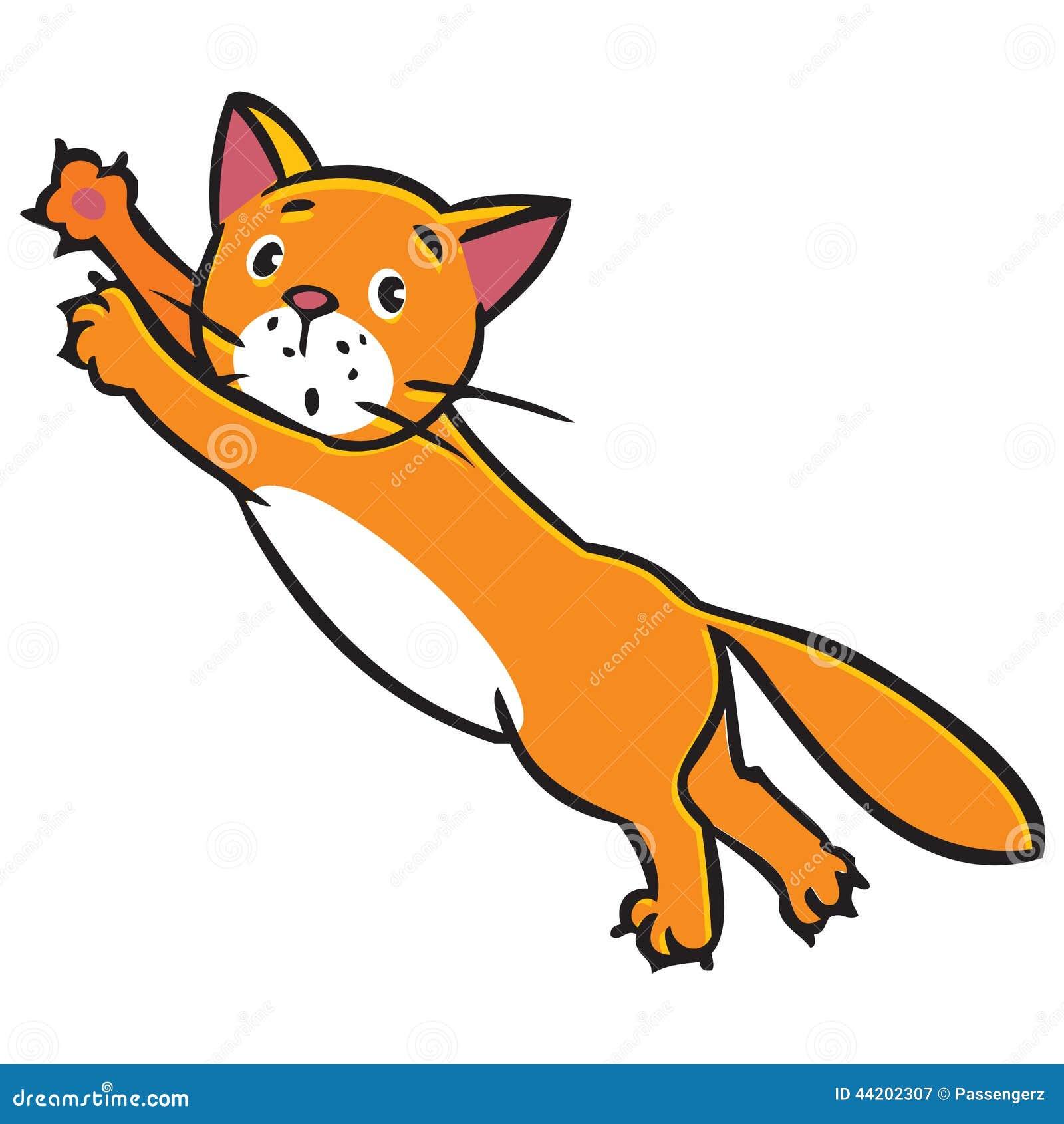 Little Girl Cat Cartoon