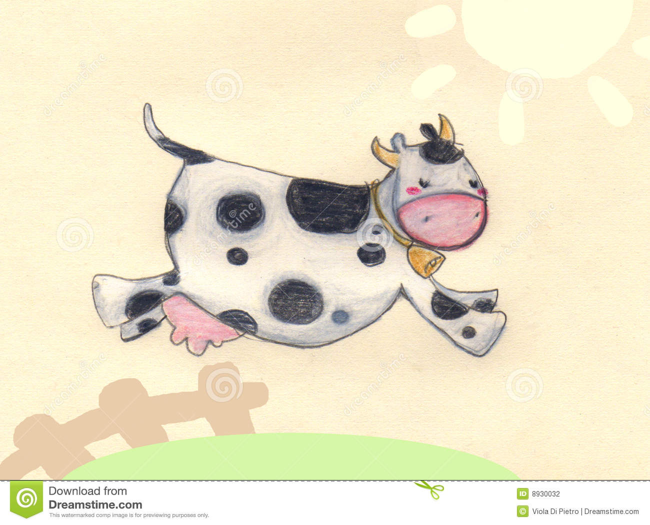 Jumping Cow Stock Photography