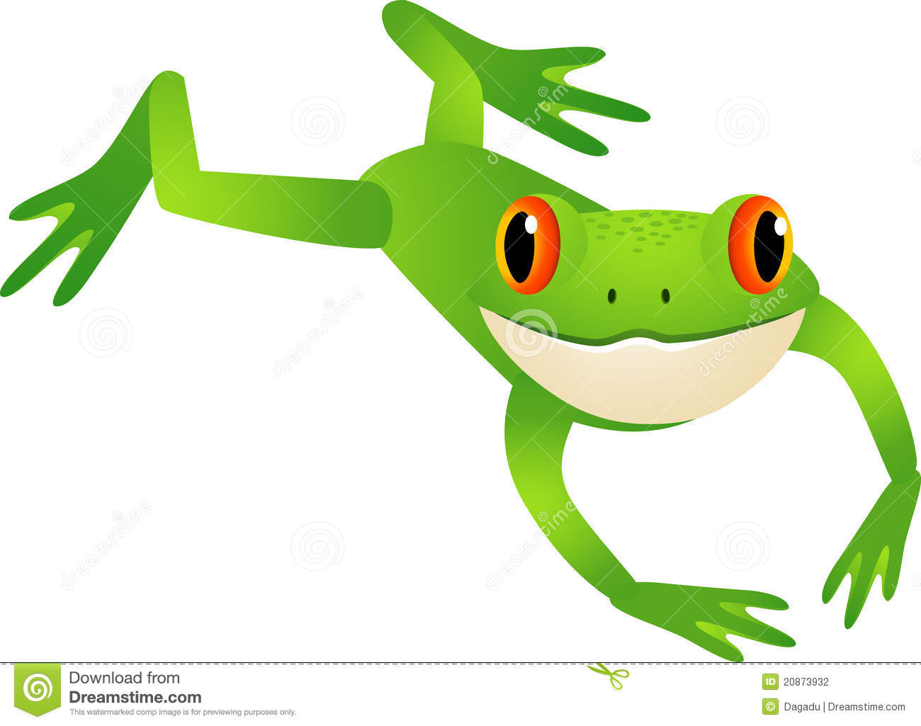 Jumping Frog Stock Photography - Image: 20873932