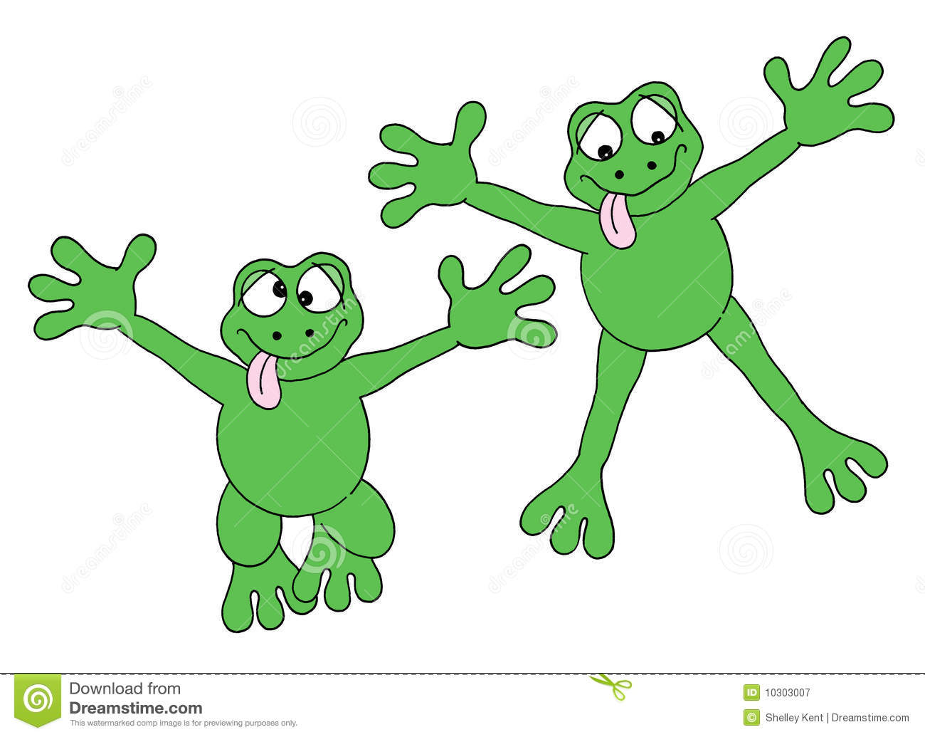 Jumping Frogs Royalty Free Stock Photography - Image: 10303007