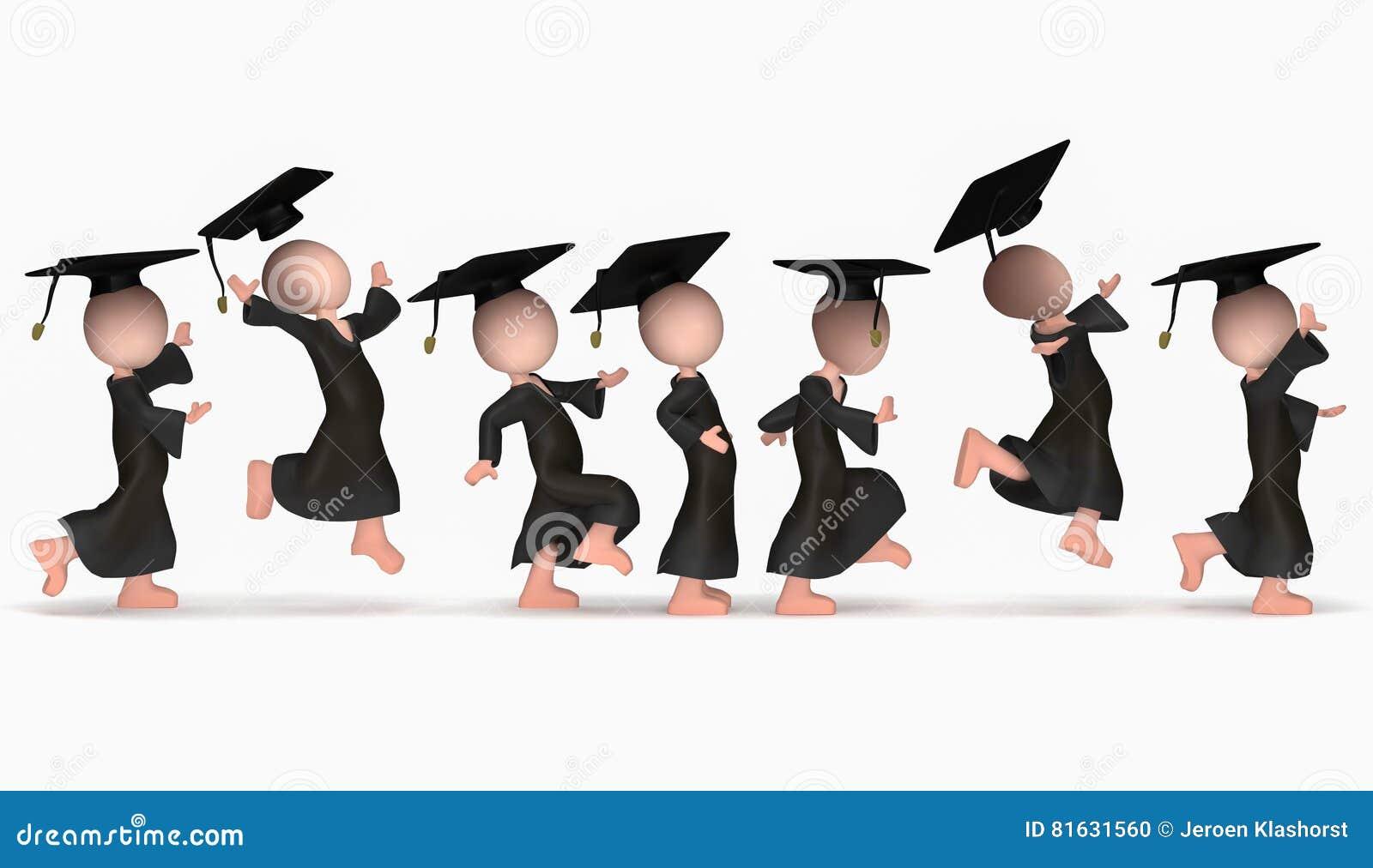 Jumping happy school cumloude
